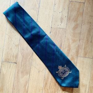 Ralph Lauren Purple Label Silk Crest Neck Tie